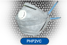 Horizontal Fold Flat Disposable Respirator Mask Valved FFP2 Carbon CE EN149