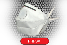 Horizontal Fold Flat Disposable Respirator Mask Valved FFP3 CE EN149